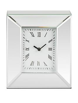 Very Rectangle Mirrored Mantel Clock Picture