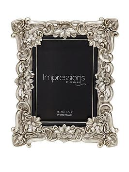 """Very Impressions Antique Floral Resin Frame 4X6"""" Picture"""