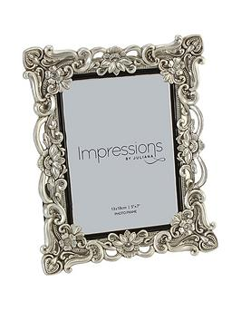 impressions-antique-floral-resin-photo-frame-ndash-5-x-7-inch