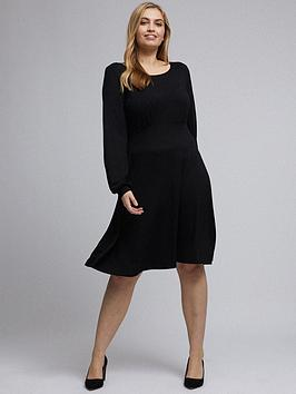 Dorothy Perkins Dorothy Perkins Curve Empire Seam Long Sleeve Midi Dress -  ... Picture