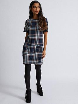 Dorothy Perkins Dorothy Perkins Check Shift Dress - Navy Picture