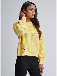 dorothy-perkins-lemon-pointelle-jumper