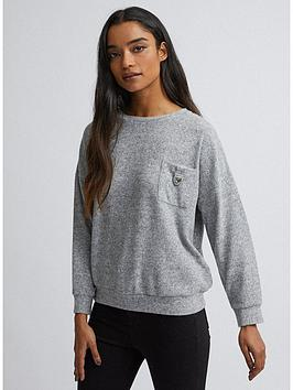 dorothy-perkins-button-pocket-brushed-top-grey