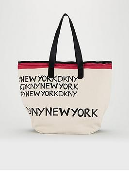 DKNY Dkny Cori Shopper Canvas Bag - Cream Picture