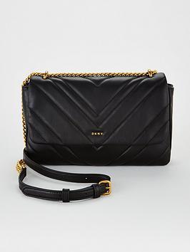 dkny-vivian-double-shoulder-strap-chevron-quilted-bag-blacknbsp