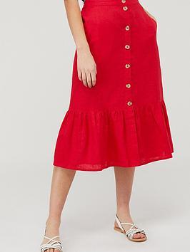 Monsoon  Monika 100% Linen Tiered Skirt