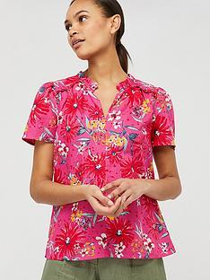 monsoon-dhana-print-organic-cotton-linen-top-pink