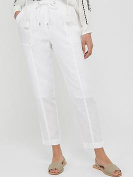 Monsoon Monsoon Aquaria 100% Linen Jogger - White Picture