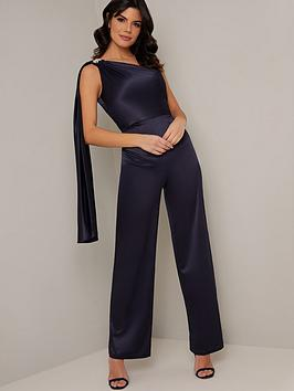 chi chi london  Chi Chi London Keily Jumpsuit - Navy