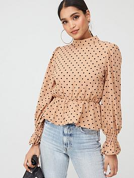 In The Style In The Style In The Style X Stephsa Polka Dot Peplum Blouse -  ... Picture