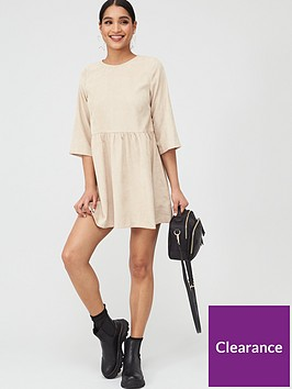 in-the-style-in-the-style-cord-smock-dress-stone