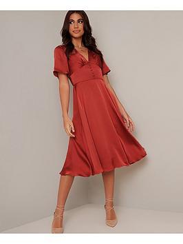 chi chi london Chi Chi London Jaslene Dress - Rust Picture