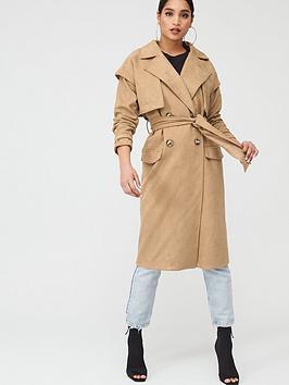 In The Style In The Style In The Style X Stephsa Faux Suede Pocket Detail  ... Picture