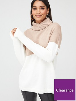 in-the-style-in-the-style-x-stephsanbspcable-knit-roll-neck-jumper-stone