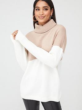 In The Style In The Style In The Style X Stephsa Cable Knit Roll Neck  ... Picture