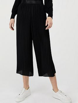 Monsoon Monsoon Phoebe Pleated Crop Trouser - Black Picture