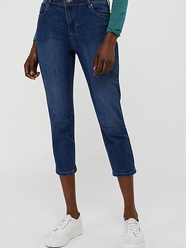 Monsoon Monsoon Idabella Capri Organic Cotton Denim Jean - Blue Picture
