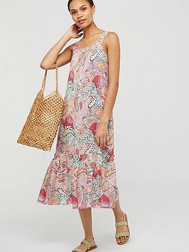 Monsoon Monsoon Tenley Paisley Print Ecovero Sundress - Red Picture