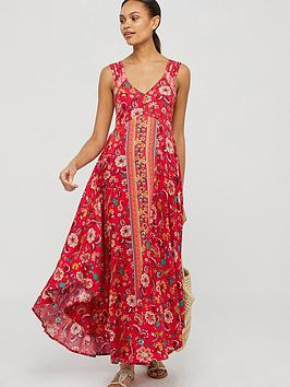 Monsoon Monsoon Lauren Ecovero Print Dress - Red Picture