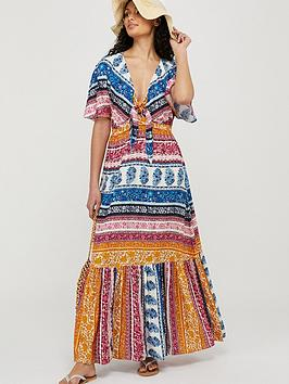 Monsoon Monsoon Rupert Sustainable Print Maxi Dress - Blue Picture
