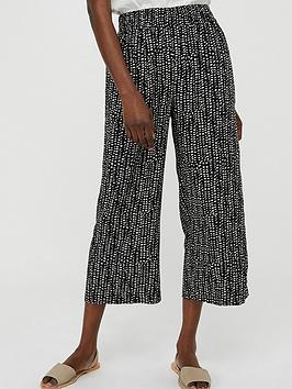 Monsoon Monsoon Kady Print Crop Trouser - Black Picture