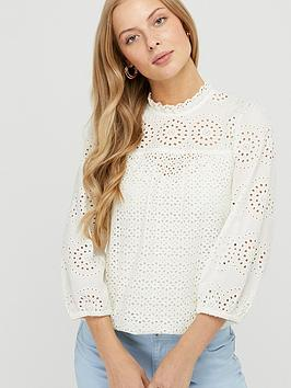 Monsoon Monsoon Rachel Pretty Lace Top - Ivory Picture