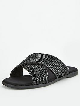 office-steffanni-cross-over-flat-sandals-black