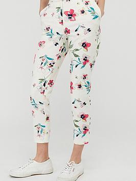 Monsoon Monsoon Maisy Print Slim Leg Trouser - Ivory Picture