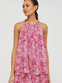 Monsoon Monsoon Coco Print Cami - Coral Picture