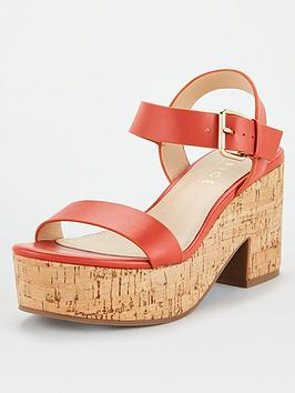 Office Office Mimi Cork Barely There Sandal - Coral Picture