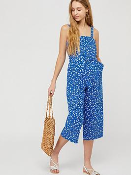 Monsoon Monsoon Michelle Organic Cotton Linen Jumpsuit - Blue Picture
