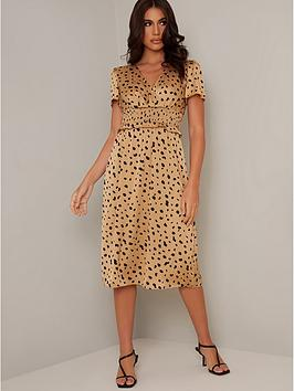 chi chi london Chi Chi London Analyn Dress - Tan Picture
