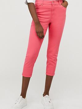 Monsoon Monsoon Idabella Capri Organic Cotton Denim Jeans - Pink Picture