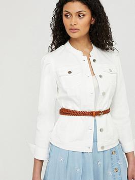 Monsoon Monsoon Fern Organic Cotton Denim Jacket - White Picture