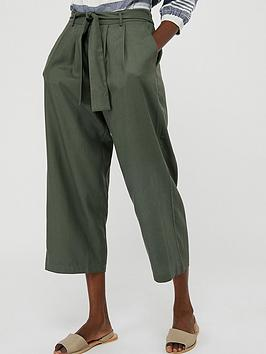 Monsoon Monsoon Marty Lenzing Tencel Crop Trousers - Khaki Picture