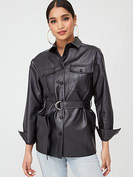 in-the-style-in-the-style-x-fashion-influx-pu-belted-relaxed-shacket