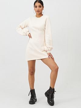 In The Style In The Style In The Style X Stephsa Pleat Detail Sweat Dress  ... Picture