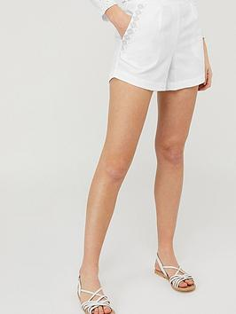 Monsoon Monsoon Dani Embroidered Short - White Picture