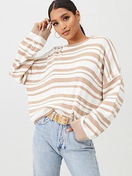 In The Style In The Style In The Style X Billie Faiers Stripe Knit Jumper  ... Picture