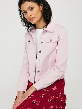 Monsoon Monsoon Elda Organic Cotton Denim Jacket - Lilac Picture