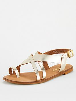 Office Office Serious Wide Fit Flat Sandal - Gold Picture