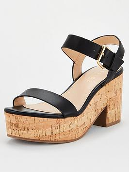 Office Office Mimi Cork Barely There Sandal - Black Picture