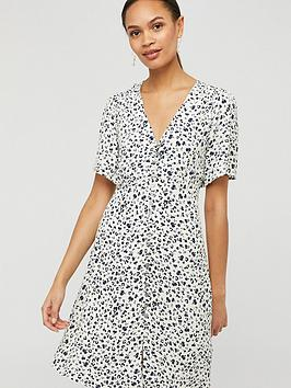 Monsoon Monsoon Poppy Print Sustainable Viscose Dress - Ivory Picture