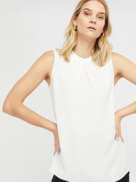 Monsoon Lucie Pleat Tank Top - Ivory