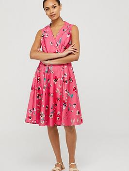 Monsoon Monsoon Maisy Floral Print Organic Cotton Dress Picture