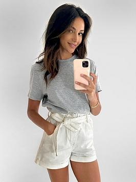 Michelle Keegan Michelle Keegan Minimals Short Sleeve T-Shirt - Grey Marl Picture
