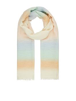 Monsoon Monsoon Perla Pastel Stripe Scarf - Multi Picture