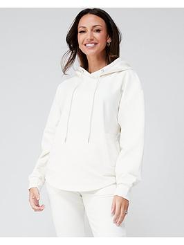 michelle-keegan-minimal-pocket-front-hoodie-ivory