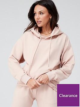 michelle-keegan-minimal-pocket-front-hoodie-blush