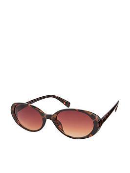 Monsoon Monsoon Oregan Oval Tort Sunglasses - Brown Picture